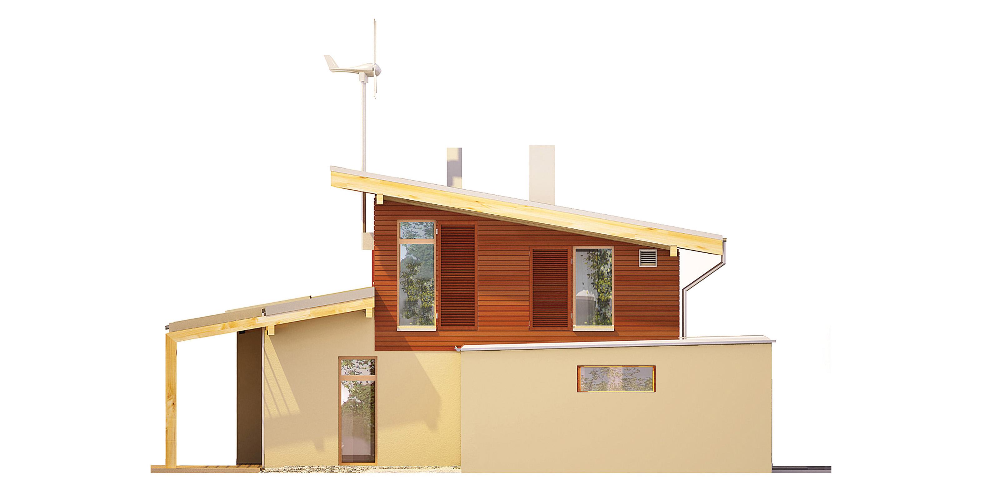 Projekt domu SOLARNY Domy Czystej Energii elewacja boczna