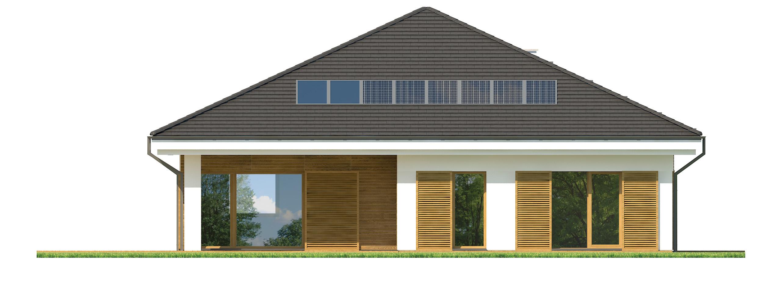 Projekt domu SKRZĘTNY Domy Czystej Energii elewacja tylna