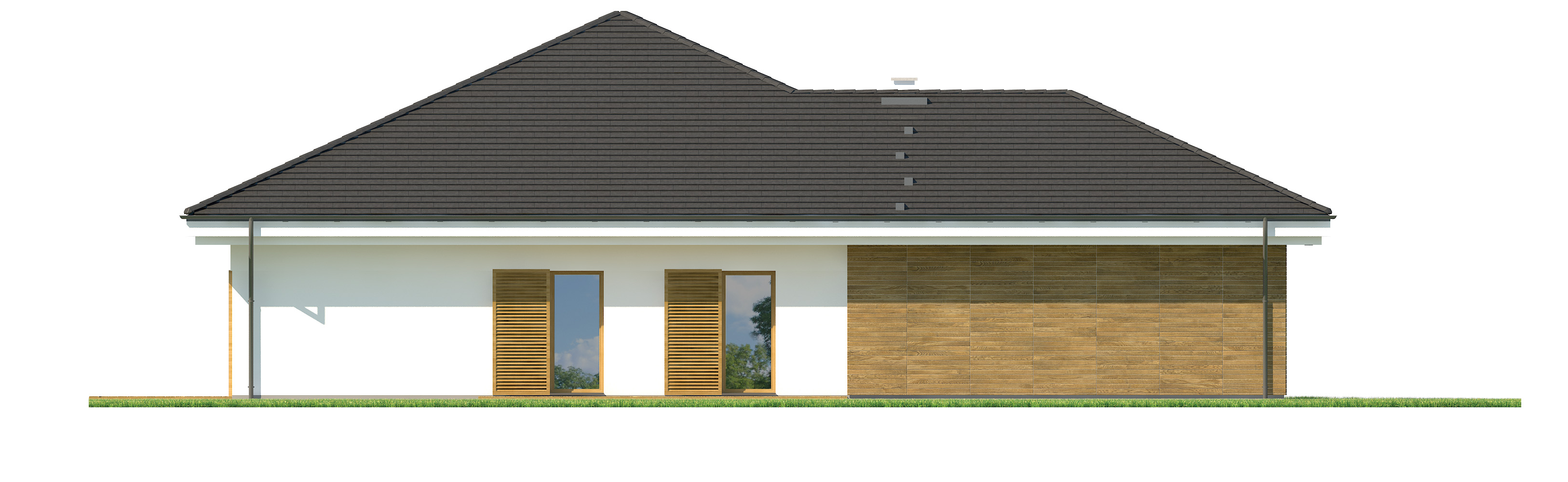 Projekt domu SKRZĘTNY Domy Czystej Energii elewacja boczna