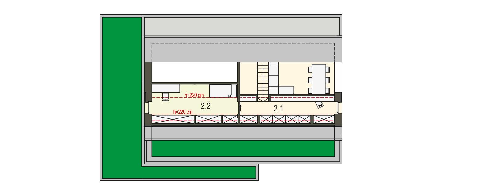 Projekt domu pasywnego DAS HAUS I Domy Czystej Energii rzut piętra