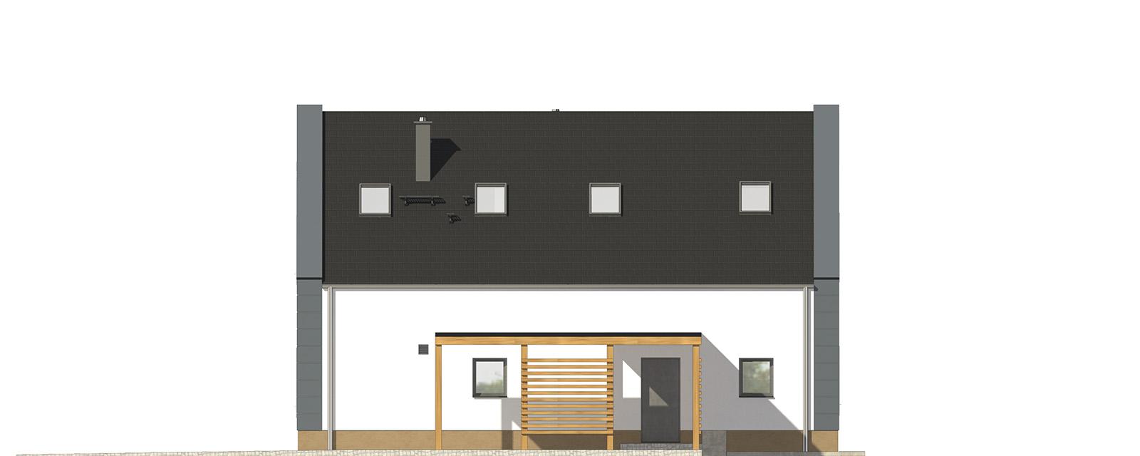 Projekt domu JAŚMINOWY Domy Czystej Energii elewacja frontowa
