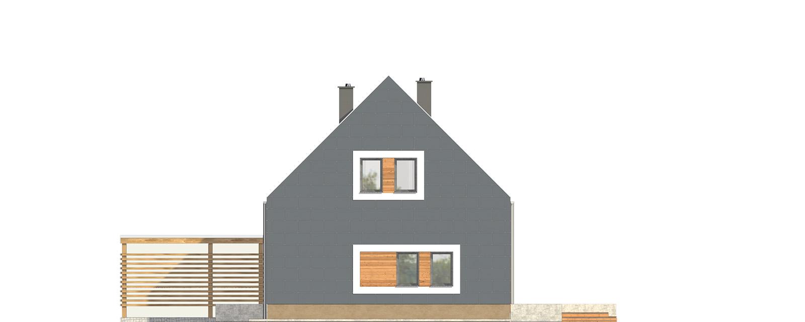 Projekt domu JAŚMINOWY Domy Czystej Energii elewacja boczna
