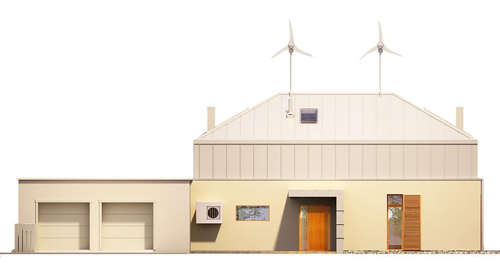 Projekt domu MANSARDA Domy Czystej Energii elewacja frontowa