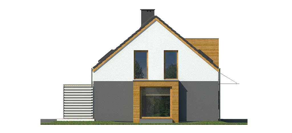 Projekt domu MIGDAŁOWY Domy Czystej Energii elewacja boczna