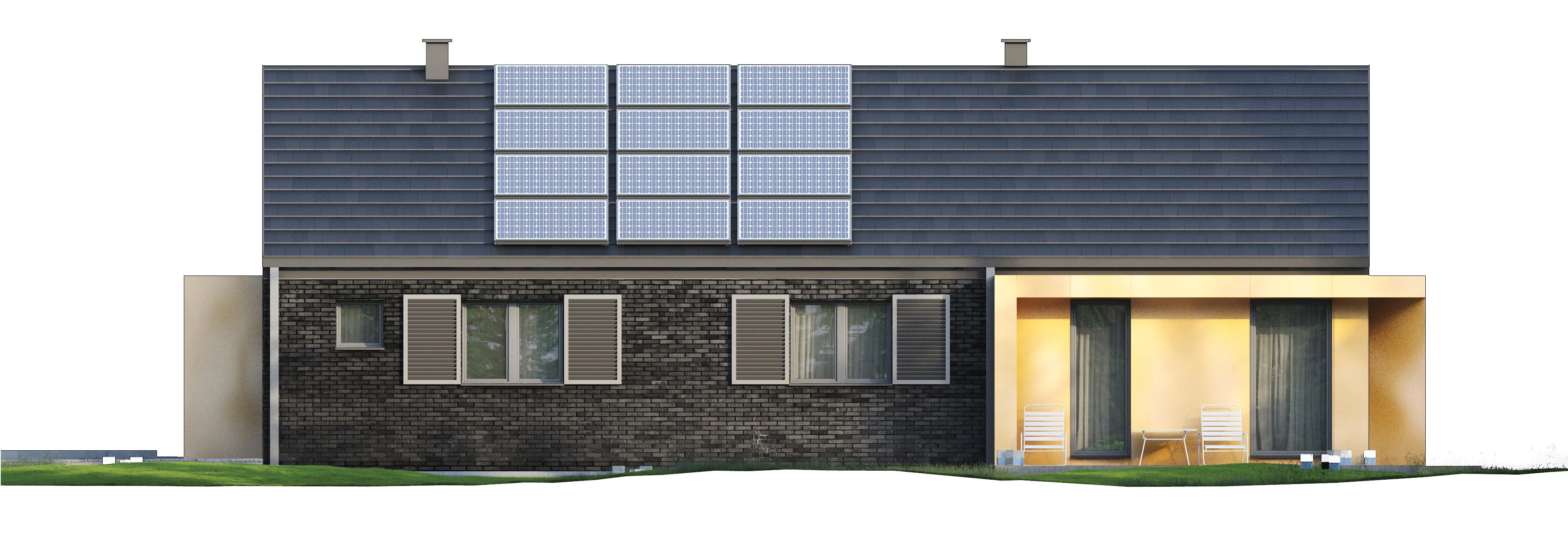 Projekt domu MINIMALNY Domy Czystej Energii elewacja boczna