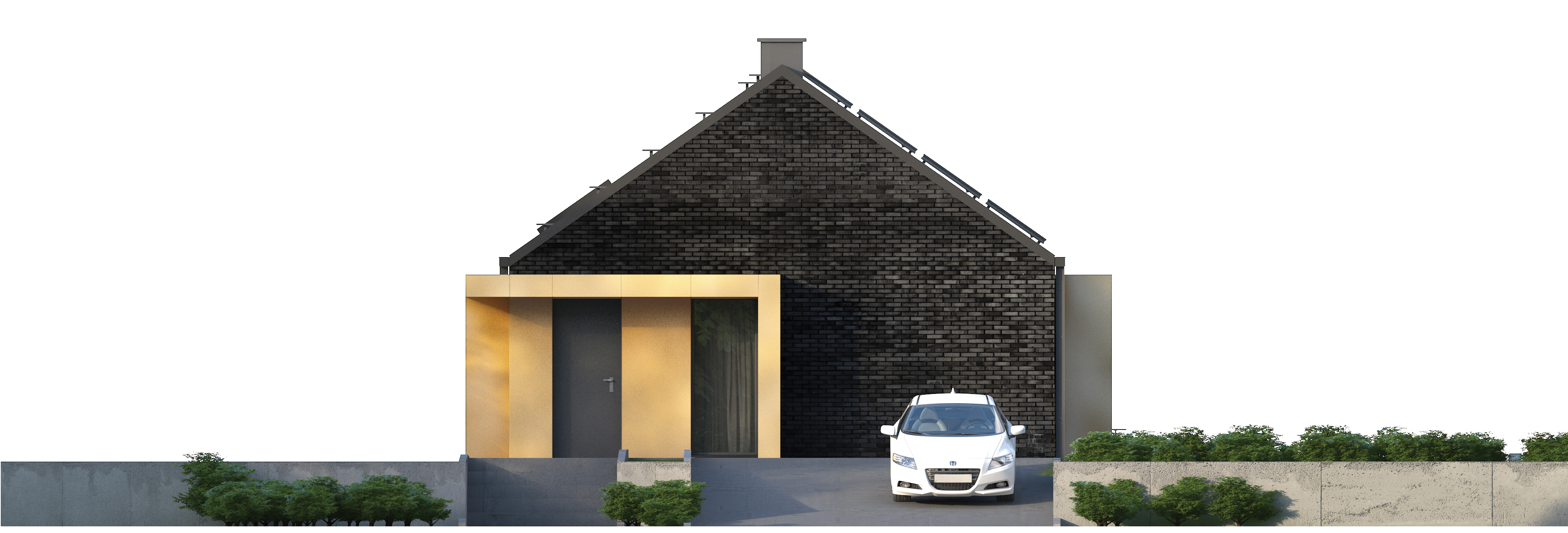 Projekt domu MINIMALNY Domy Czystej Energii elewacja tylna