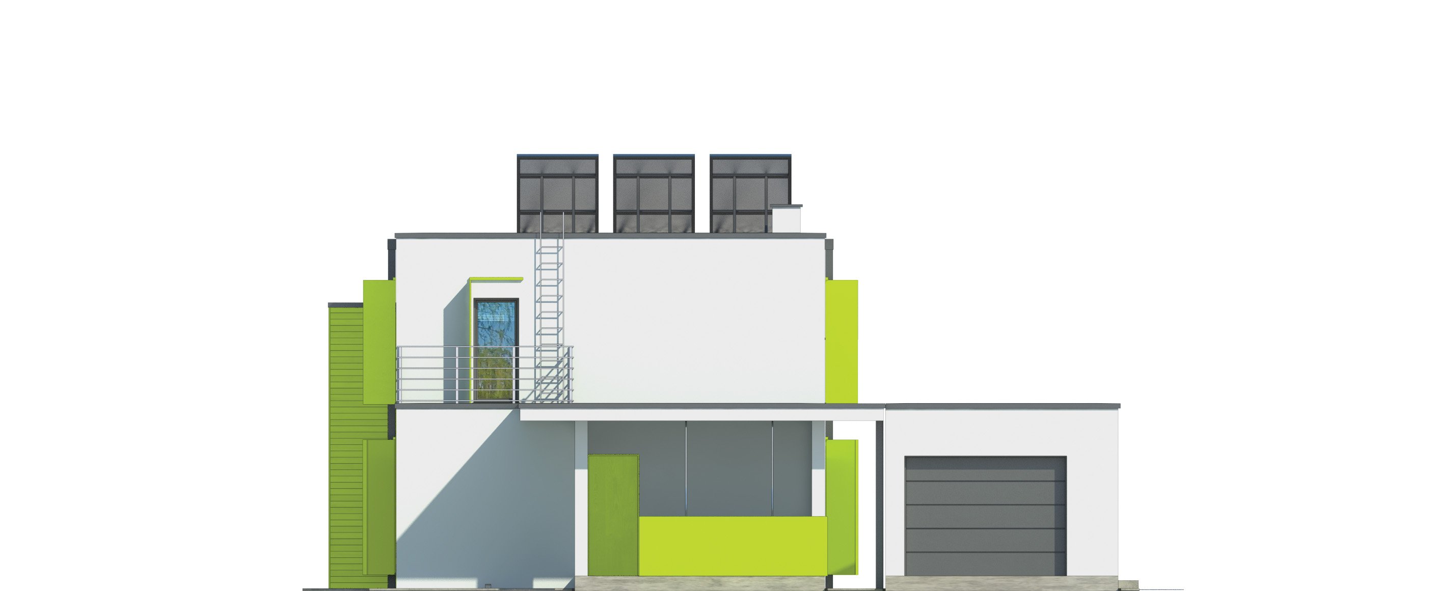 Projekt domu MODERN Domy Czystej Energii elewacja frontowa