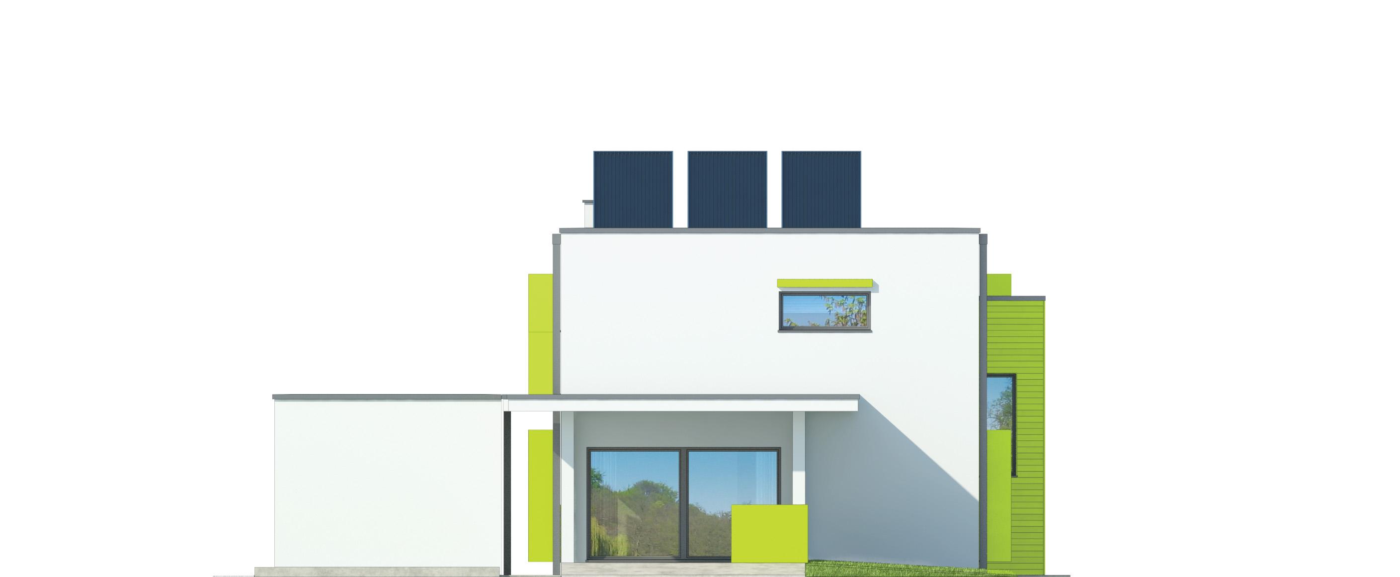 Projekt domu MODERN Domy Czystej Energii elewacja tylna