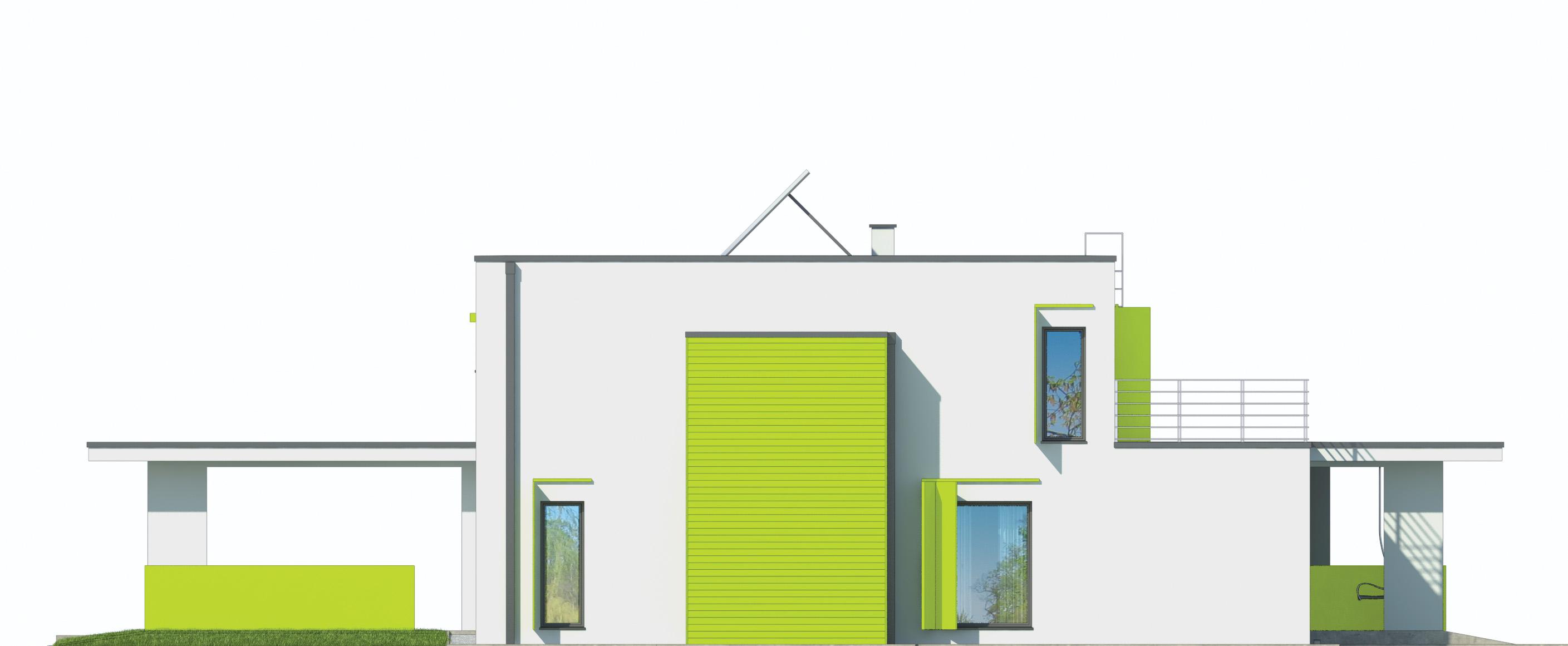 Projekt domu MODERN Domy Czystej Energii elewacja boczna