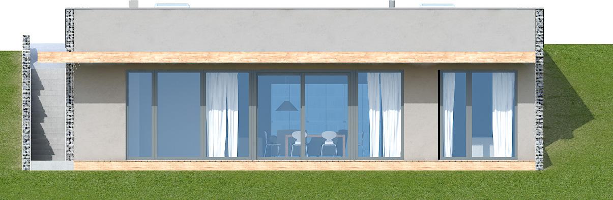 Projekt domu Z WIDOKIEM NA SŁOŃCE Domy Czystej Energii elewacja boczna