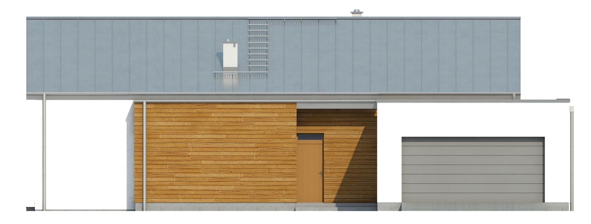 Projekt domu NISKI Domy Czystej Energii elewacja frontowa
