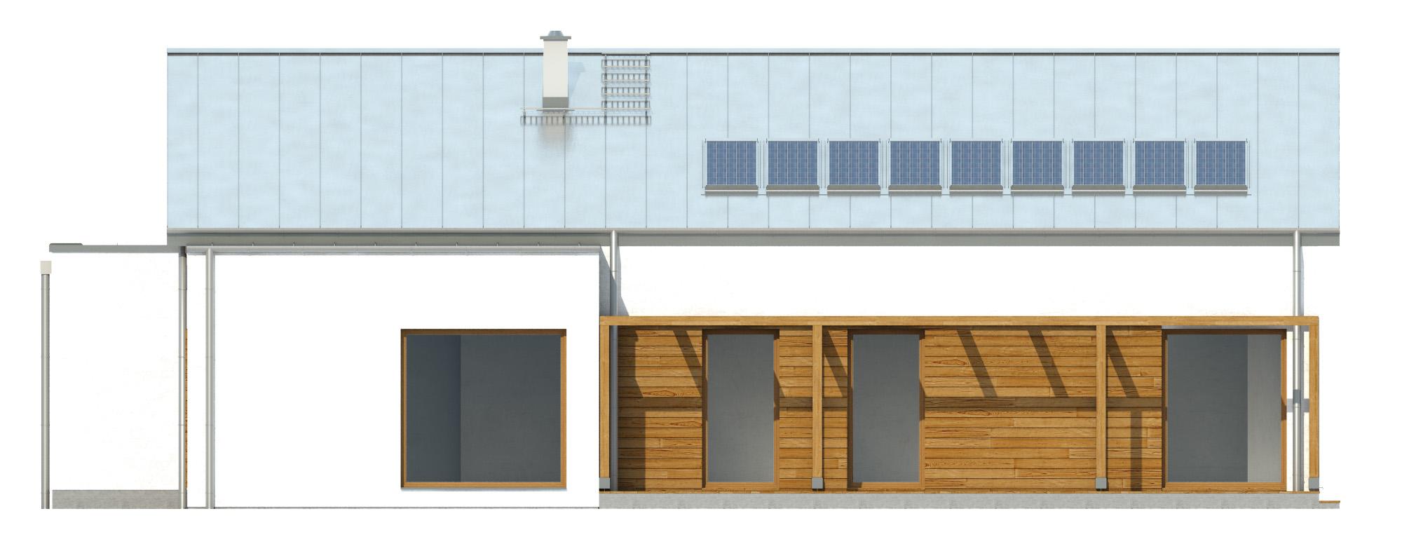 Projekt domu NISKI Domy Czystej Energii elewacja tylna