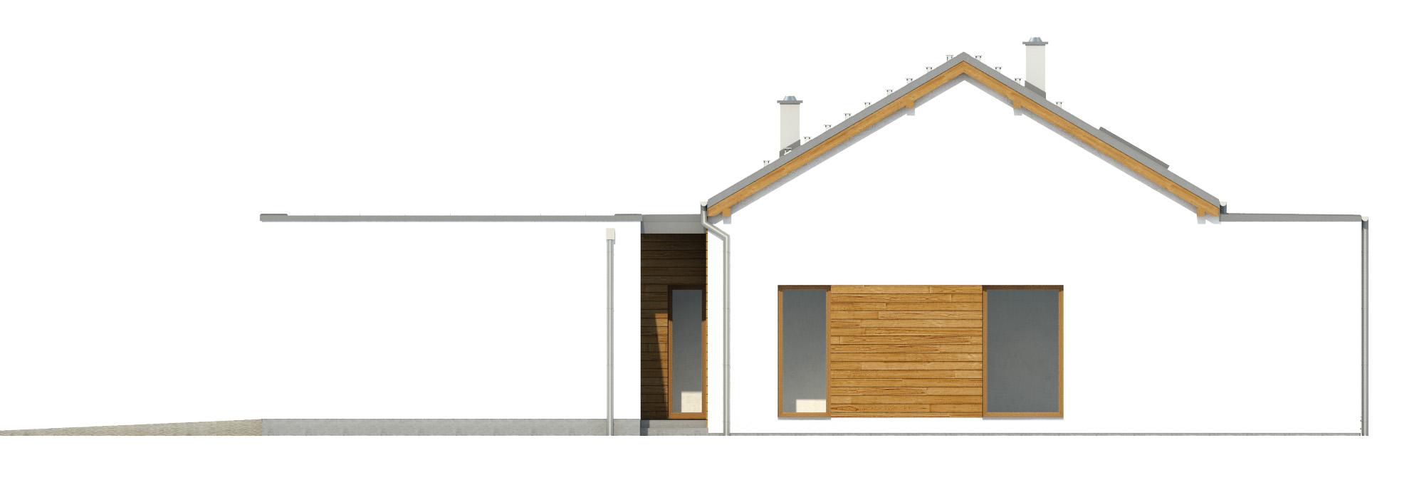 Projekt domu NISKI Domy Czystej Energii elewacja boczna