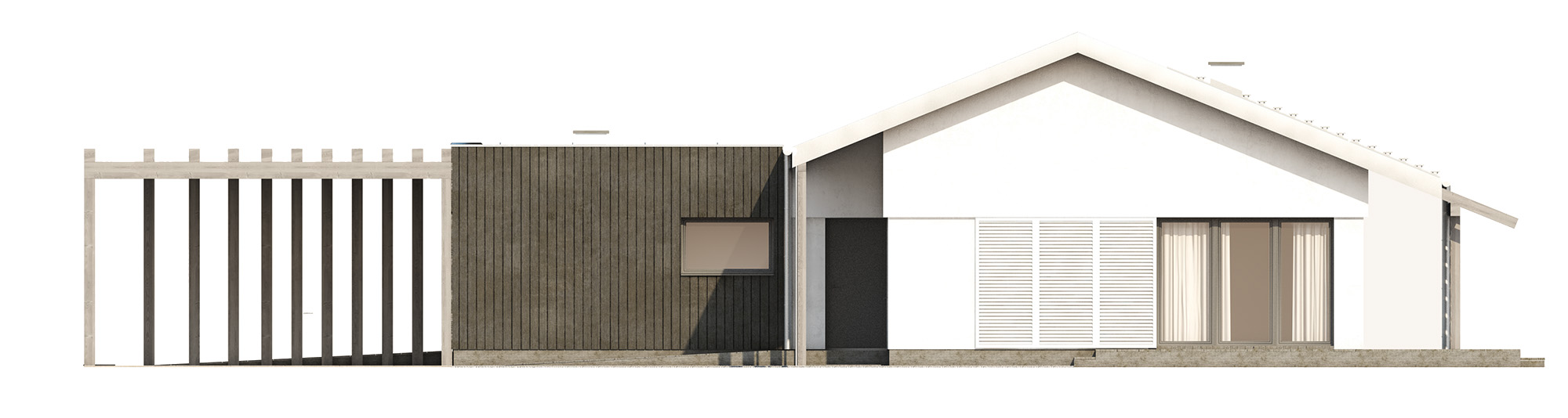 Projekt domu NIZINNY Domy Czystej Energii elewacja frontowa