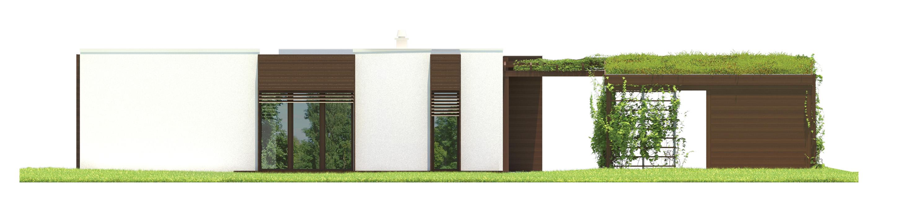 Projekt domu NOWOCZESNY Domy Czystej Energii elewacja boczna