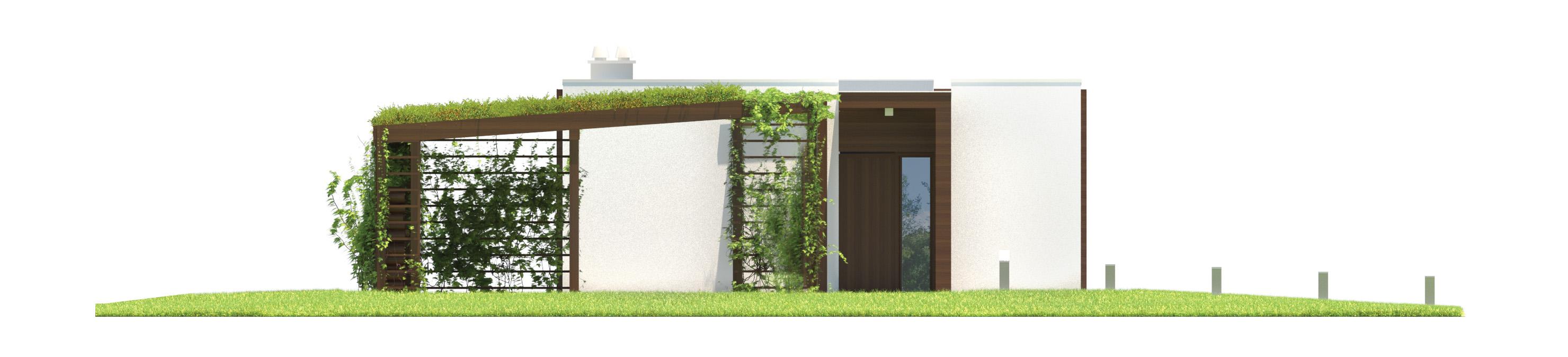 Projekt domu NOWOCZESNY Domy Czystej Energii elewacja frontowa