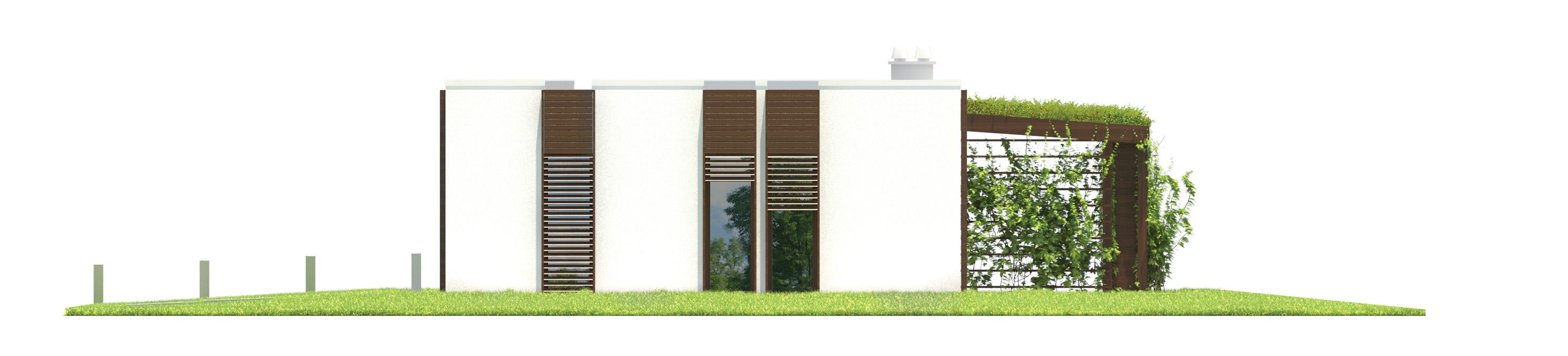 Projekt domu NOWOCZESNY Domy Czystej Energii elewacja tylna