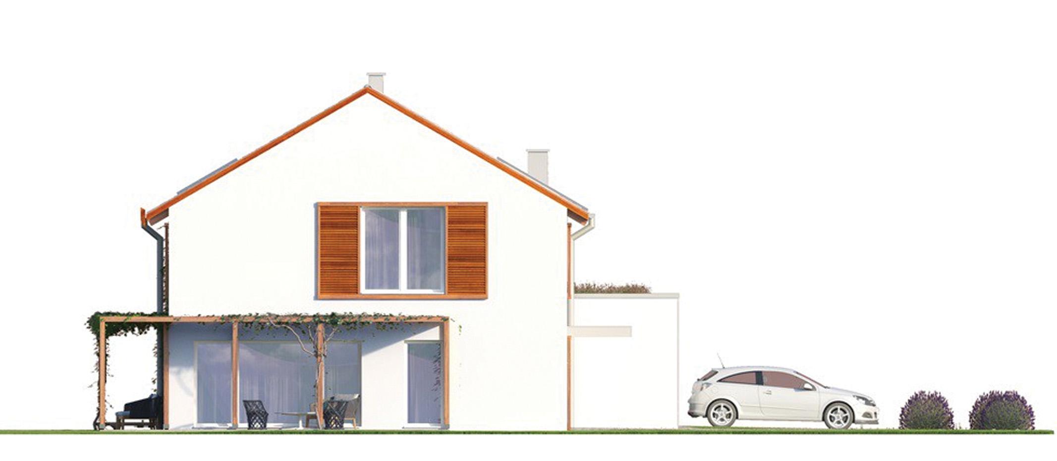 Projekt domu ORKISZ Domy Czystej Energii elewacja boczna