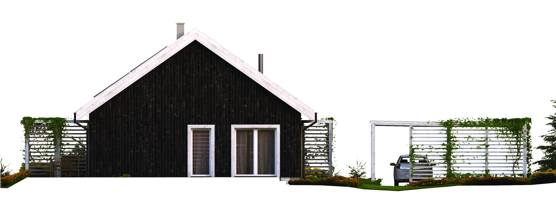 Projekt domu OSLO Domy Czystej Energii elewacja tylna