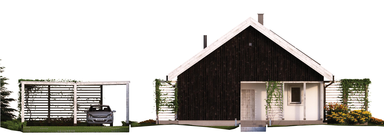 Projekt domu OSLO Domy Czystej Energii elewacja frontowa