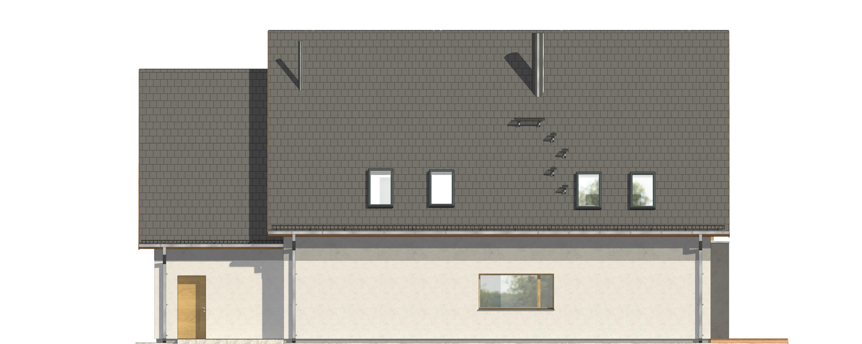 Projekt domu OTWARTY Domy Czystej Energii elewacja tylna