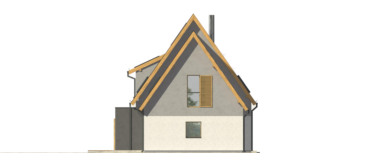 Projekt domu OTWARTY Domy Czystej Energii elewacja boczna