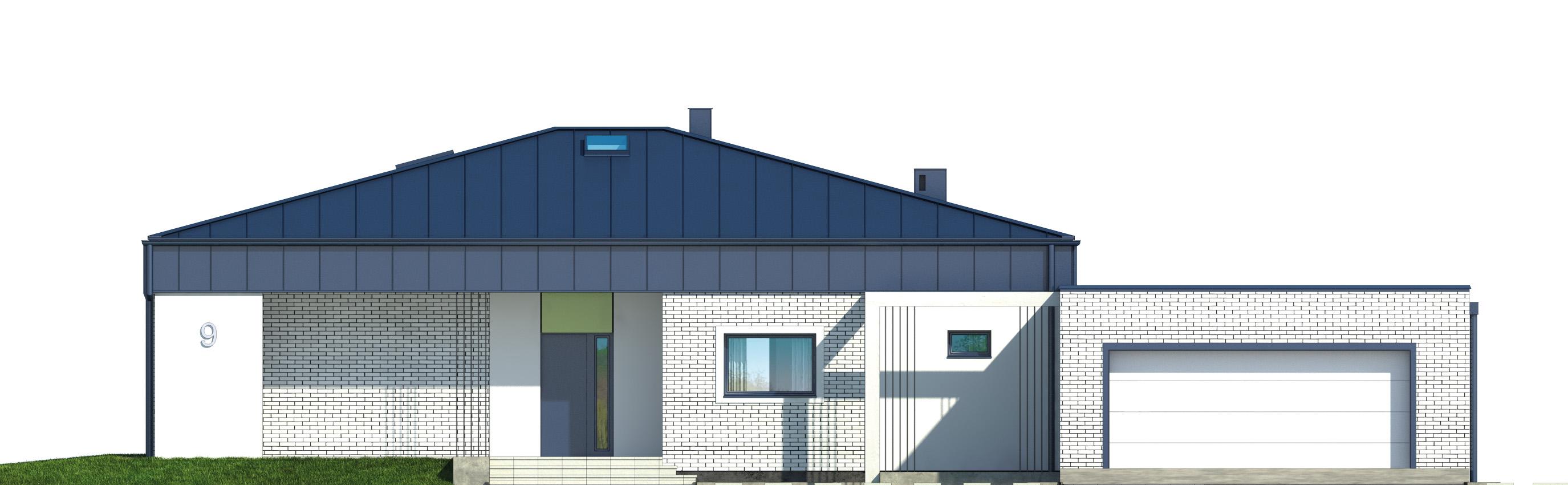Projekt domu PARTEROWY I Domy Czystej Energii elewacja frontowa