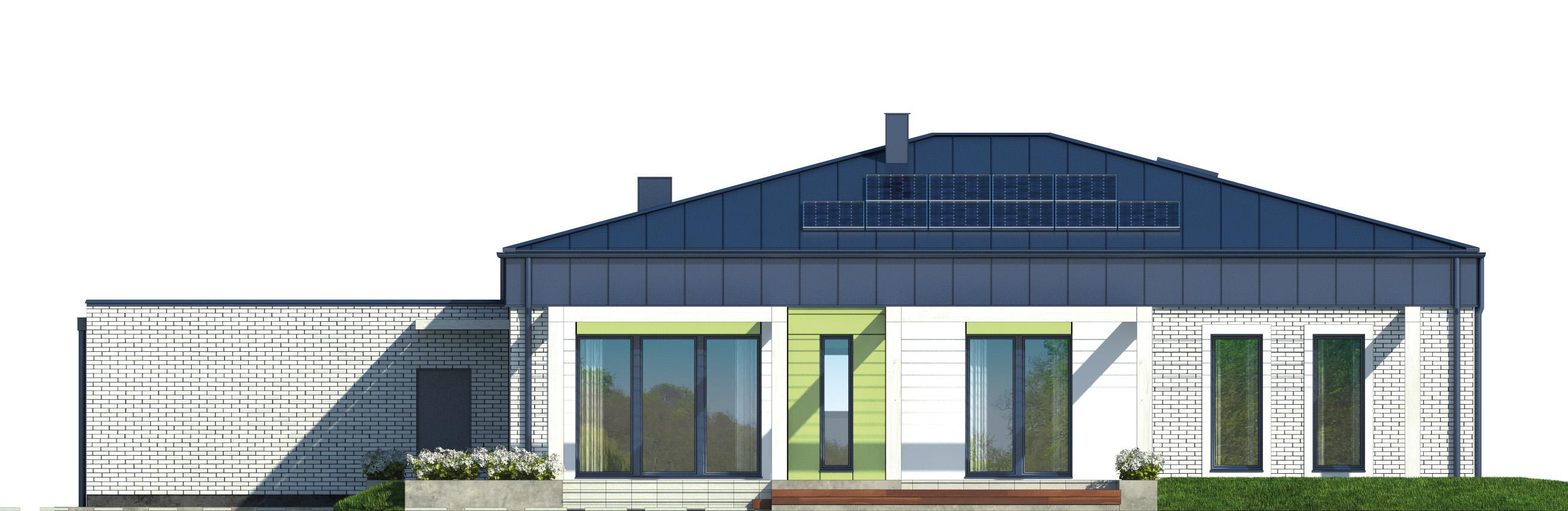 Projekt domu PARTEROWY I Domy Czystej Energii elewacja tylna