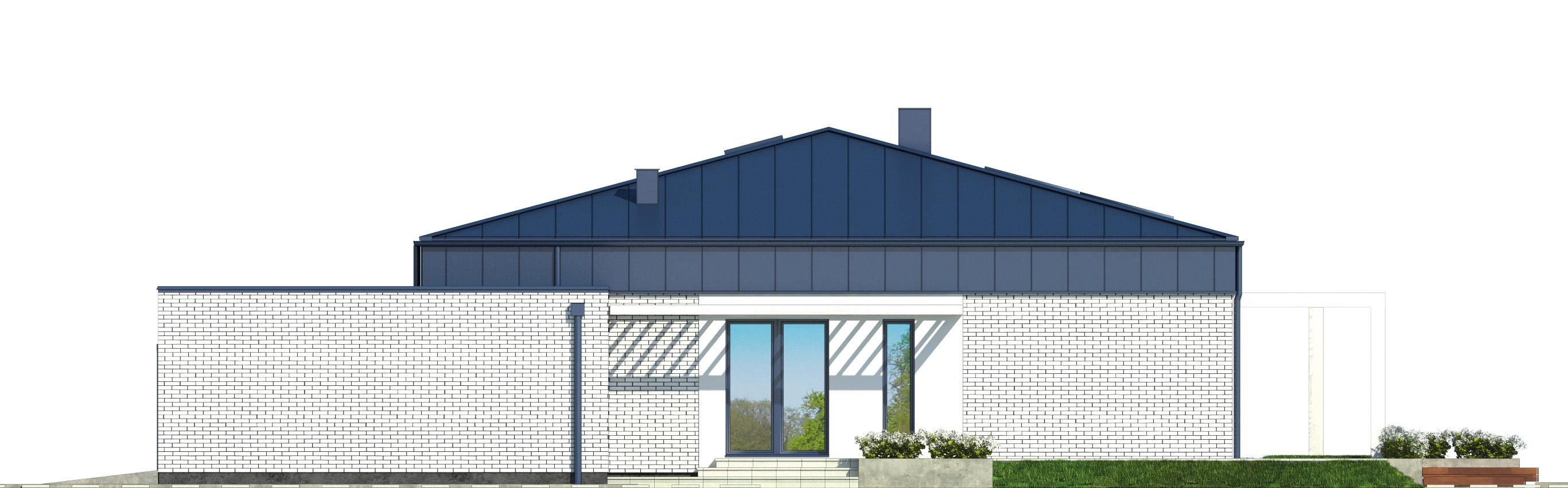 Projekt domu PARTEROWY I Domy Czystej Energii elewacja boczna