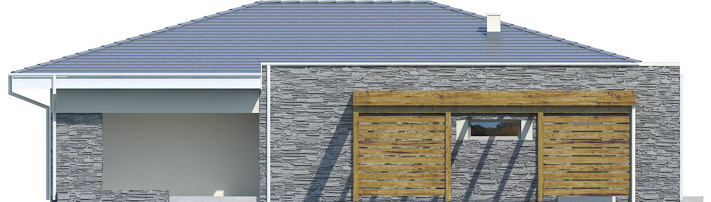 Projekt domu PARTEROWY II Domy Czystej Energii elewacja boczna