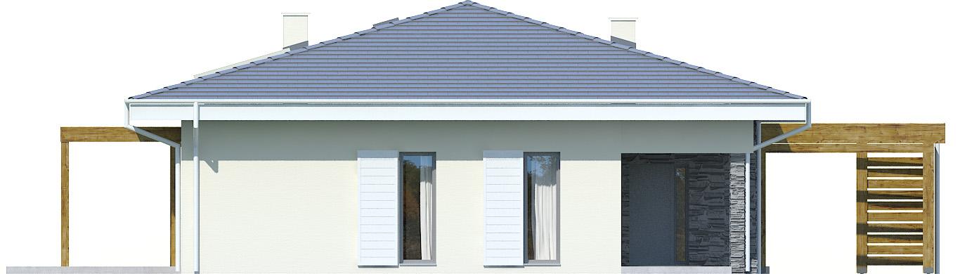 Projekt domu PARTEROWY II Domy Czystej Energii elewacja frontowa