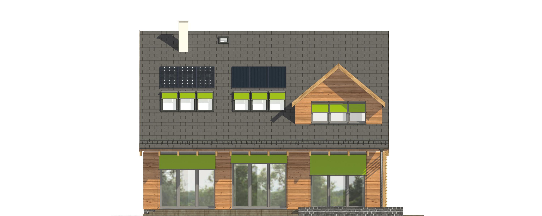 Projekt domu POGODNY Domy Czystej Energii elewacja tylna