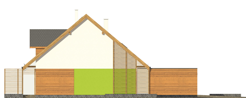 Projekt domu POGODNY Domy Czystej Energii elewacja boczna