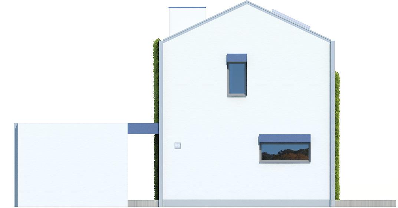 Projekt domu POŁUDNIOWY Domy Czystej Energii elewacja boczna