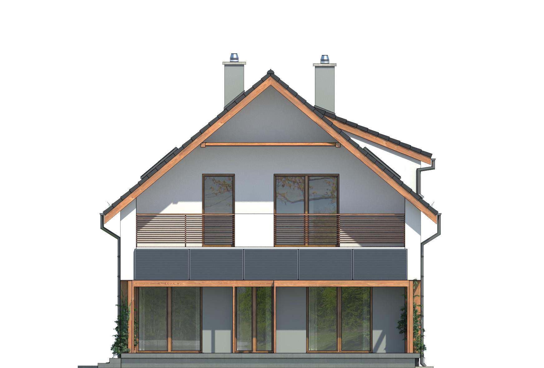 Projekt domu PRAKTYCZNY Domy Czystej Energii elewacja boczna