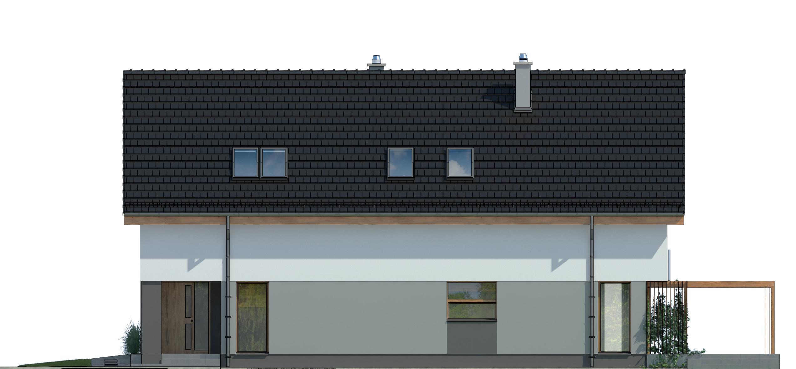 Projekt domu PRAKTYCZNY Domy Czystej Energii elewacja frontowa