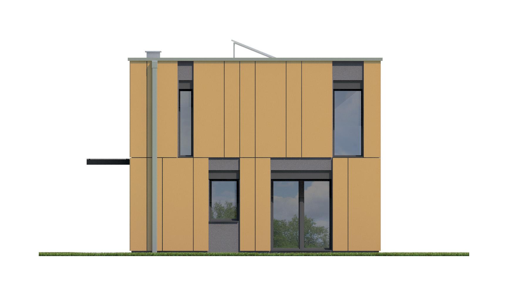 Projekt domu PROSTOKĄTNY Domy Czystej Energii elewacja boczna