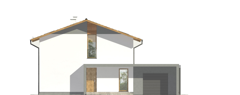 Projekt domu PROSTY Domy Czystej Energii elewacja frontowa
