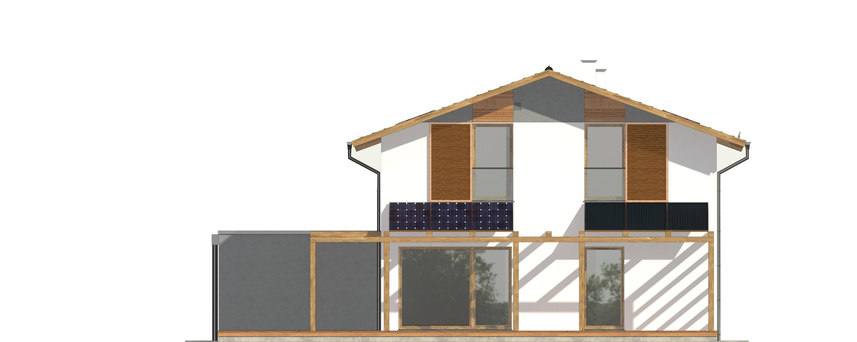 Projekt domu PROSTY Domy Czystej Energii elewacja tylna
