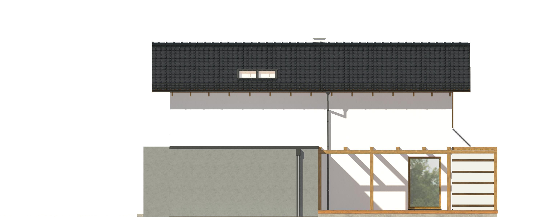 Projekt domu PROSTY Domy Czystej Energii elewacja boczna