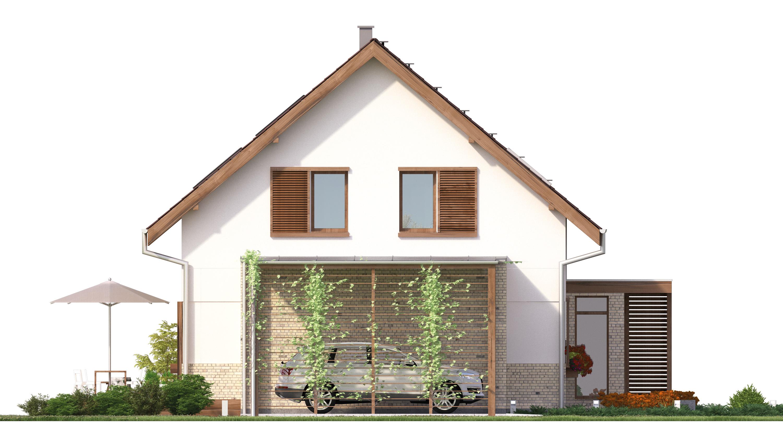 Projekt domu PRZESTRONNY Domy Czystej Energii elewacja boczna