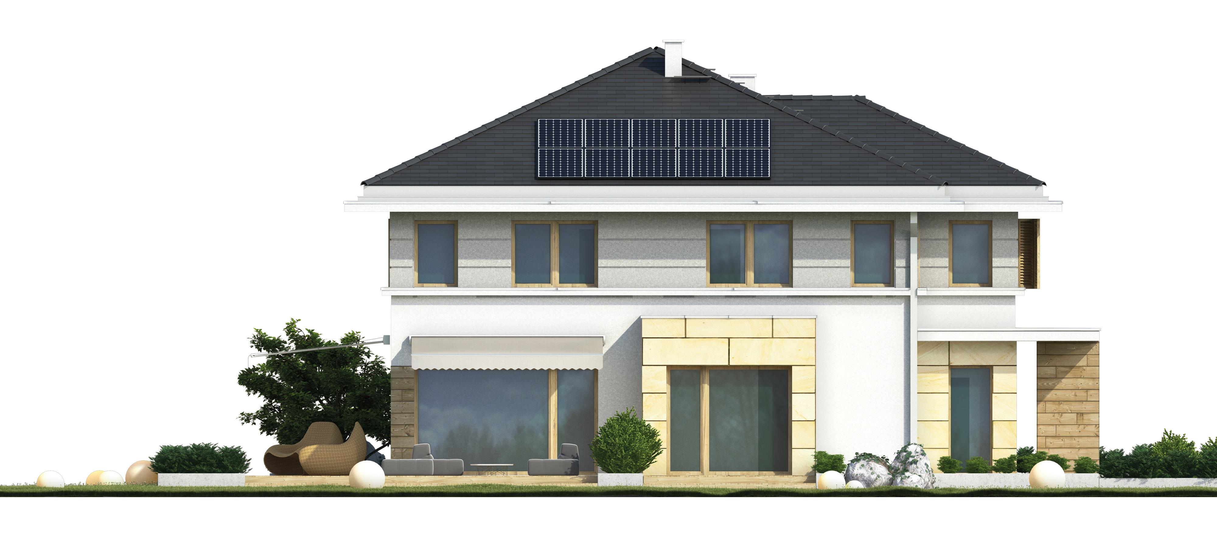Projekt domu PRZYJEMNY Domy Czystej Energii elewacja boczna