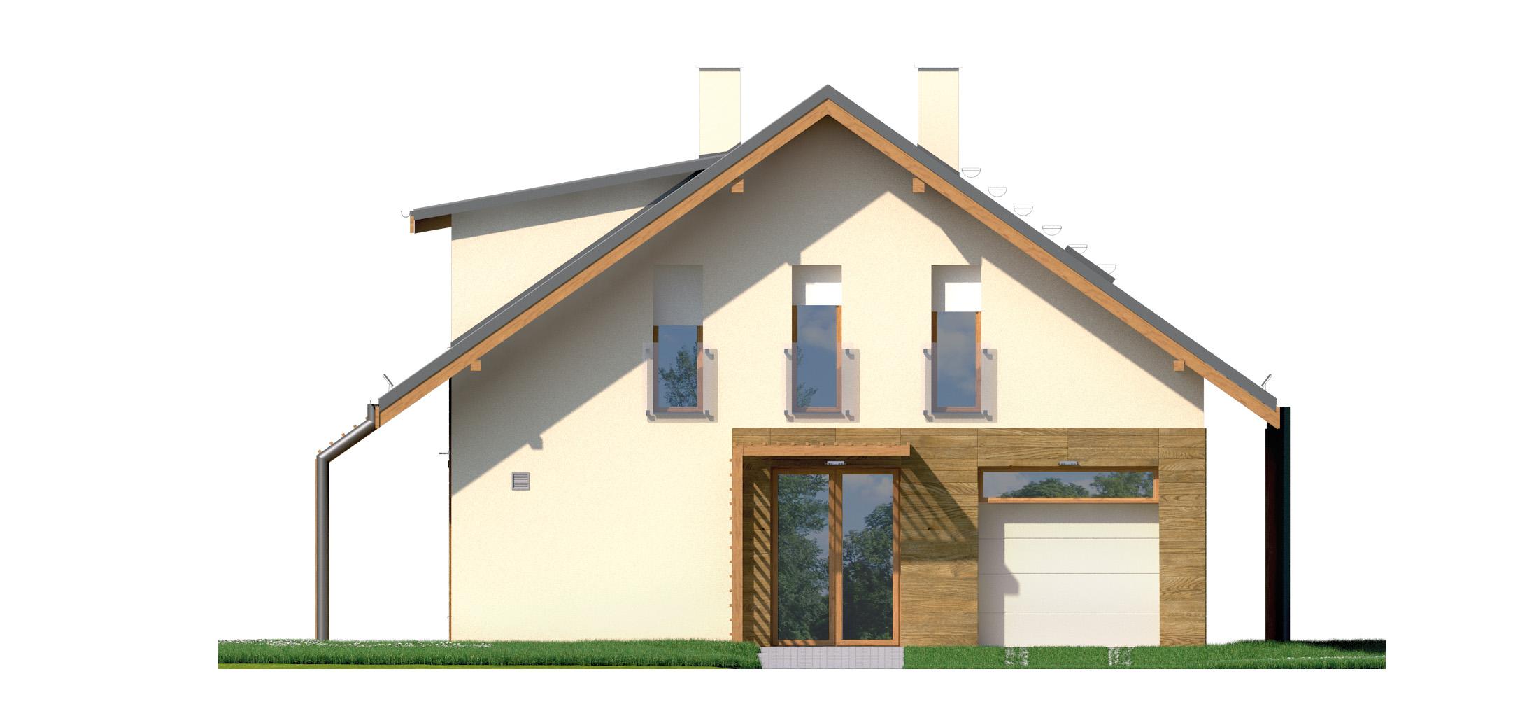 Projekt domu PRZYTULNY Domy Czystej Energii elewacja frontowa