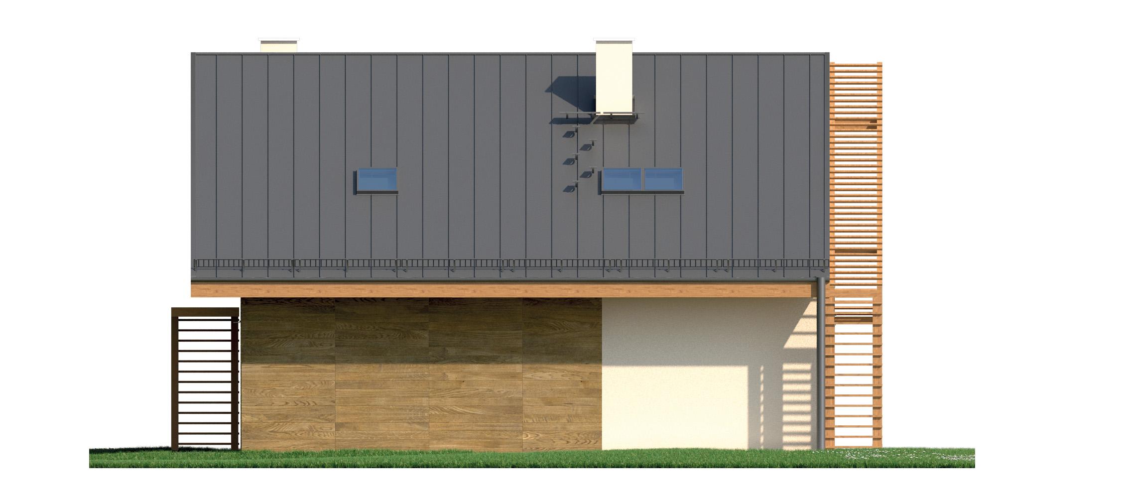 Projekt domu PRZYTULNY Domy Czystej Energii elewacja boczna