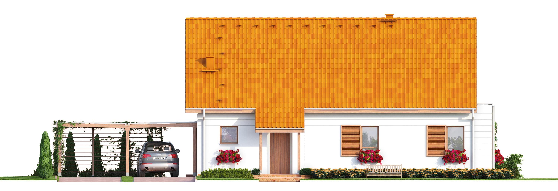 Projekt domu PRZYJAZNY Domy Czystej Energii elewacja frontowa