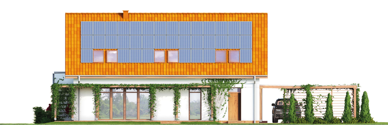 Projekt domu PRZYJAZNY Domy Czystej Energii elewacja tylna