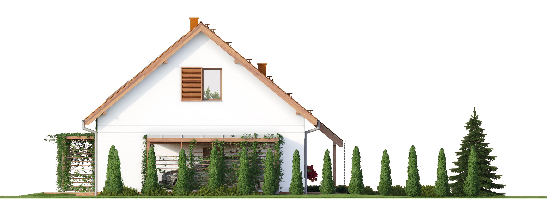 Projekt domu PRZYJAZNY Domy Czystej Energii elewacja boczna