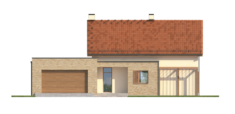 Projekt domu RATAJÓWKA Domy Czystej Energii elewacja frontowa