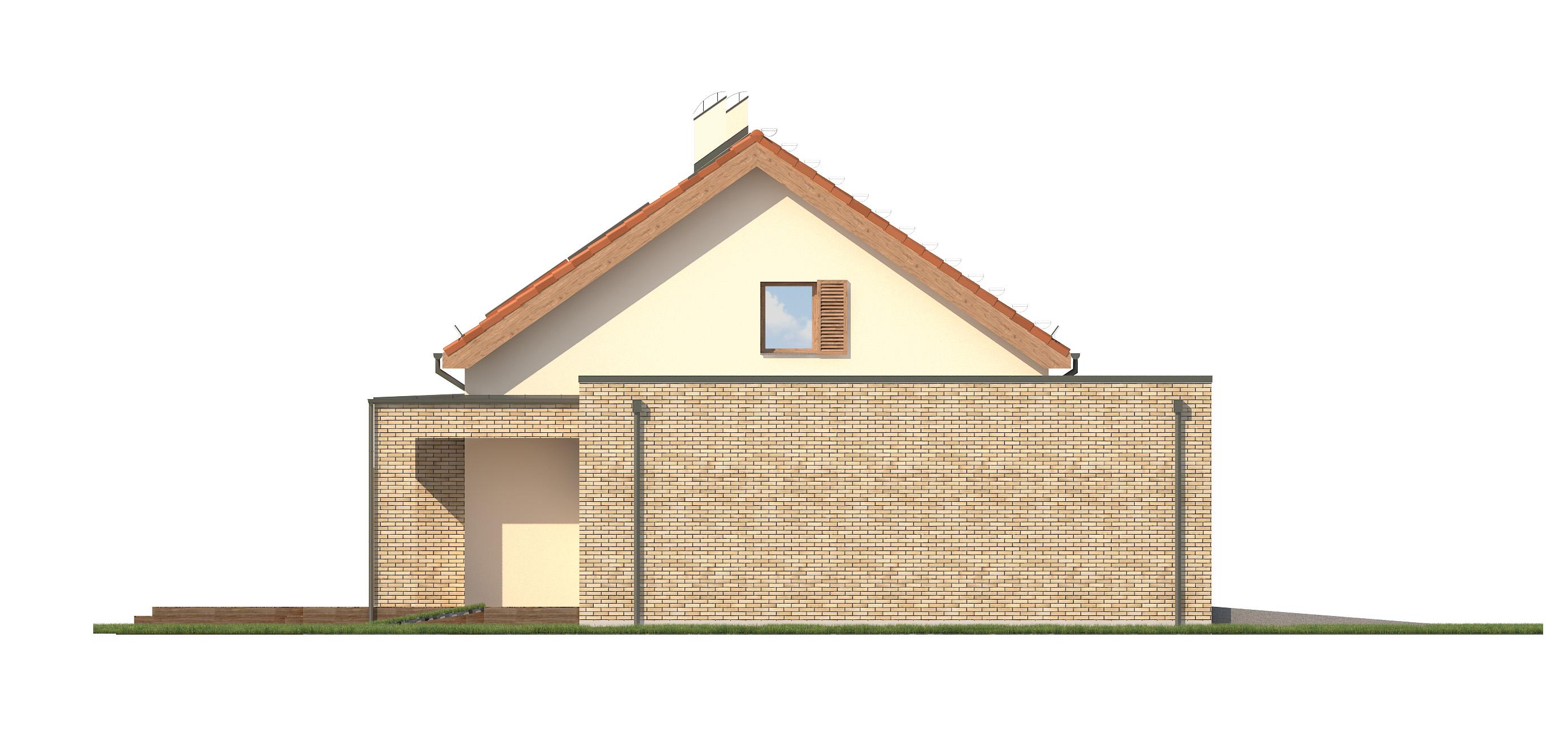 Projekt domu RATAJÓWKA Domy Czystej Energii elewacja boczna