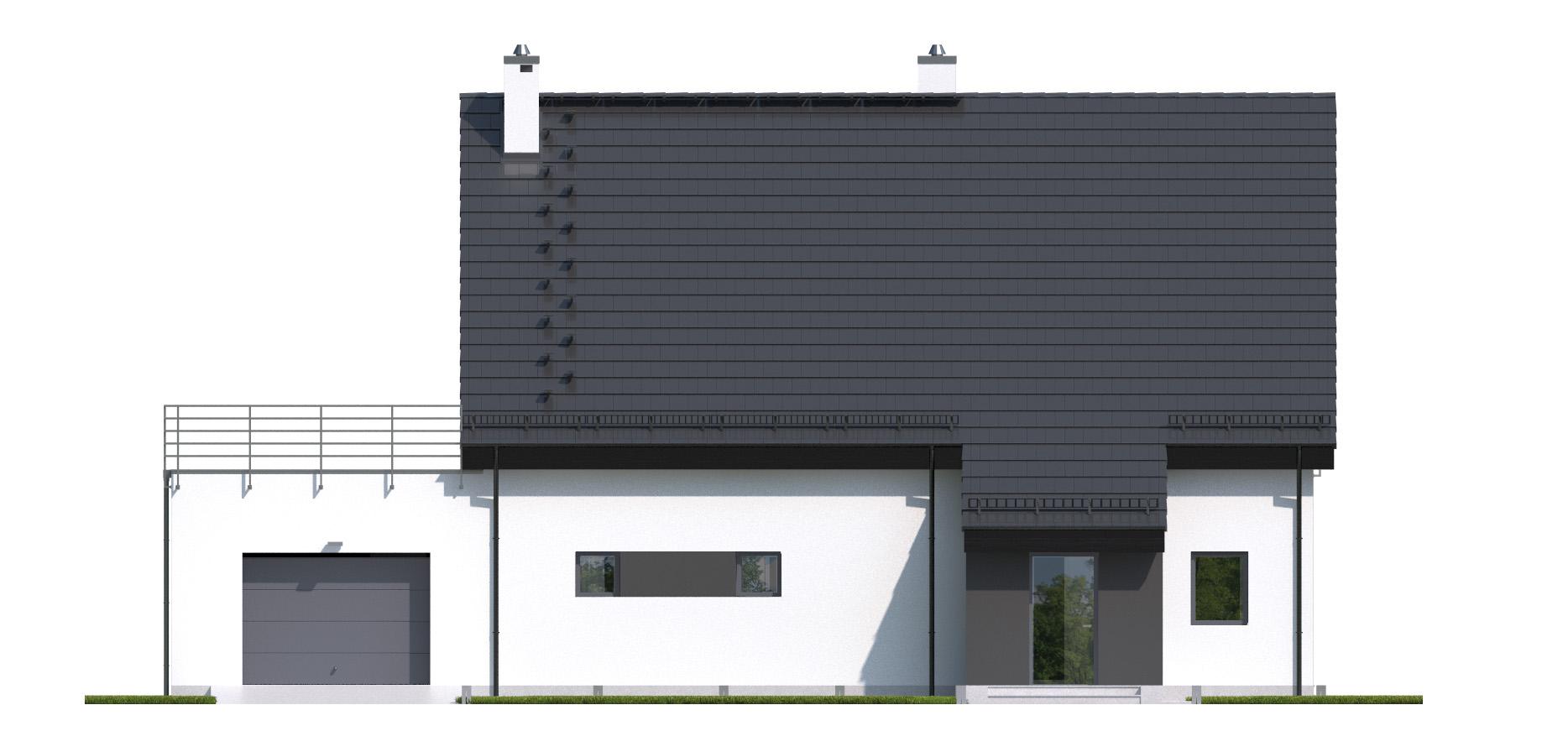 Projekt domu RYTM Domy Czystej Energii elewacja frontowa